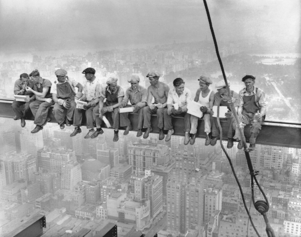 Photo of Lunch atop a Skyscraper