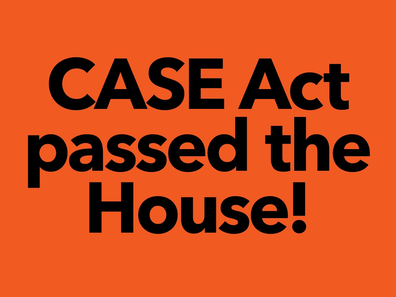 Press Release: House Passes CASE Act on Strong Bipartisan Vote