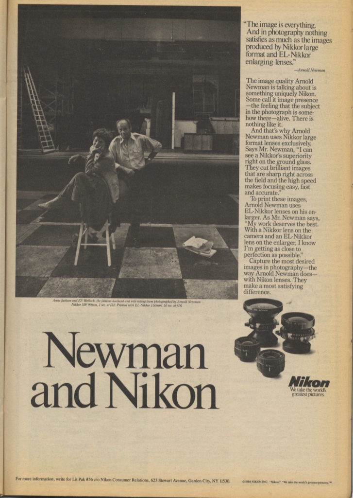 Screenshot of article on Arnold Newman posted on PDNPulse