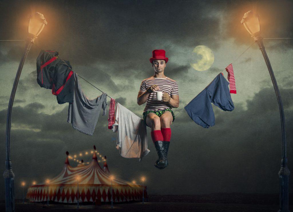 circus, tent, artist, rope, walker,