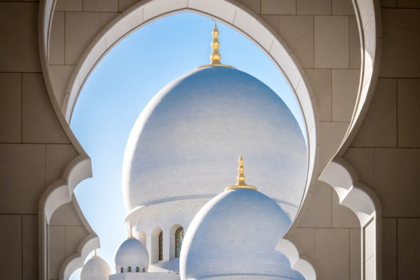 "Third Place: ""Arches and Domes of Abu Dhabi"" by Ward Russell"