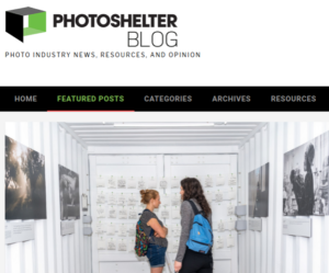 Screenshot of article posted at PhotoShelter Blog