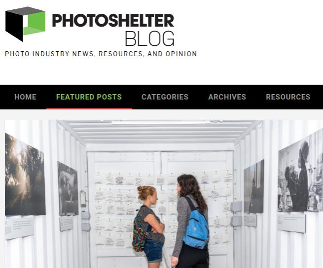 Screenshot of article posted at PhotoShelter Blog
