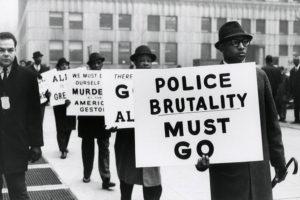 Photo of protest in Harlem in 1963