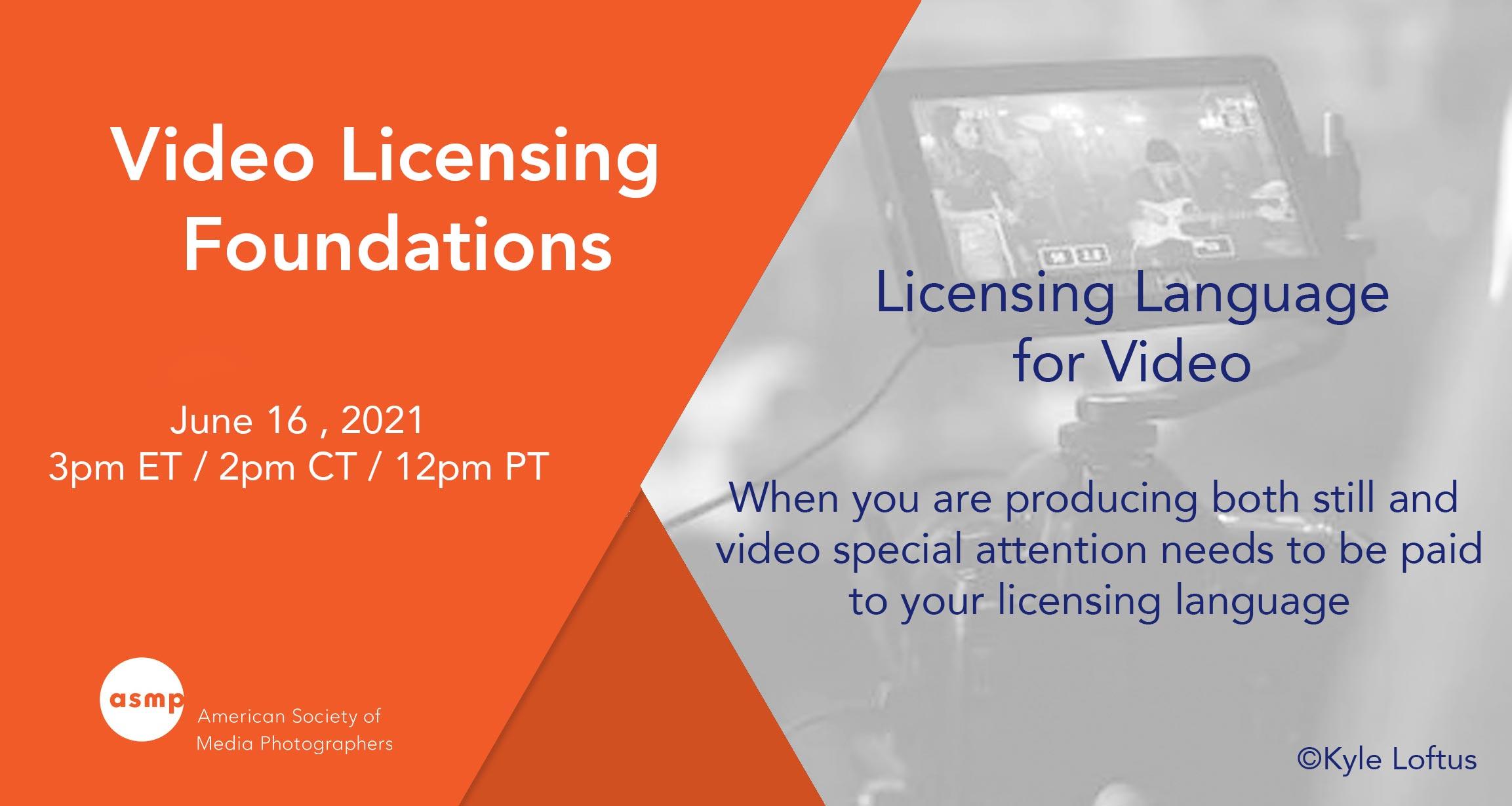 Webinar: Video Licensing Foundations