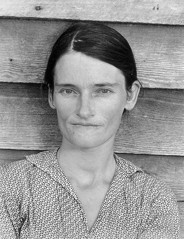 Photo of Allie Mae Burroughs, Wife of a Cotton Sharecropper © Walker Evans 1936