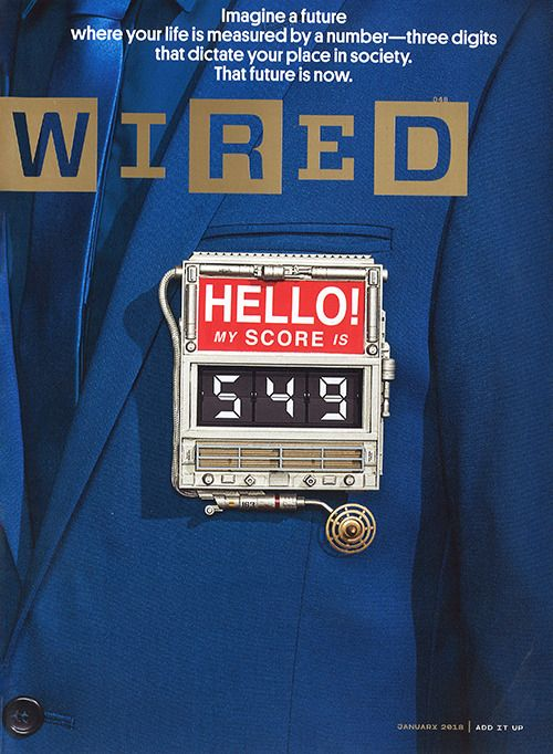 Wired Magazine Jan 2018 Cover Photo by Dan Winters