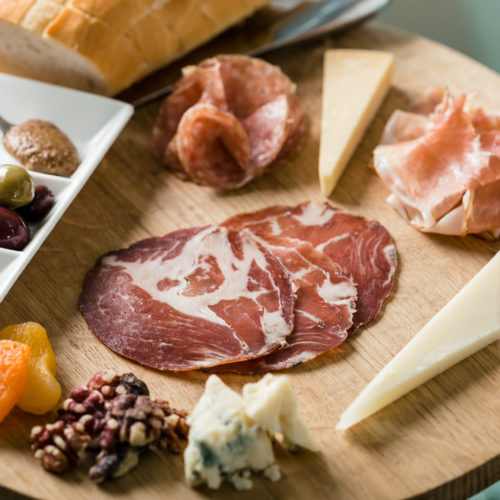 editorial food photo of charcuterie plate for restaurant marketing