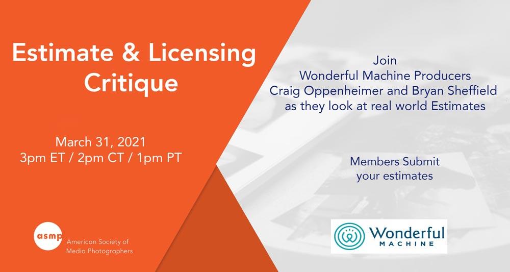 Webinar: Estimate & Licensing Critique with Wonderful Machine