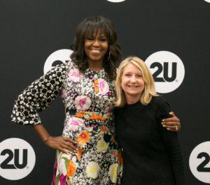Linda Reineke with Michelle Obama